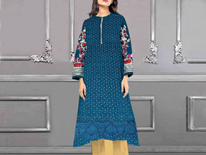 2-Pcs Heavy Embroidered Lawn Dress in Pakistan