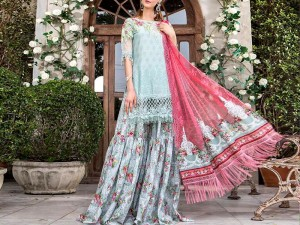 Luxury Embroidered Lawn Suit with Chiffon Dupatta Price in Pakistan