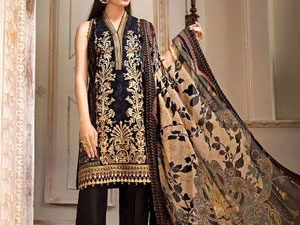 Luxury Embroidered Lawn Dress with Chiffon Dupatta Price in Pakistan
