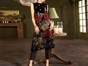 Elegant 2-Pcs Embroidered Lawn Dress Price in Pakistan