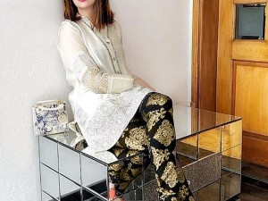 2-Pcs Embroidered Lawn Dress with Embroidered Trouser Price in Pakistan