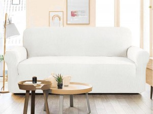 5 Seater Jersey Sofa Protector Slipcovers - White
