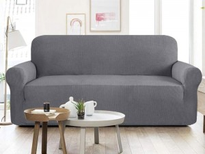 7 Seater Jersey Sofa Protector Slipcovers - Grey