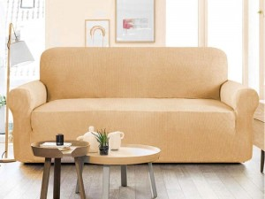 7 Seater Jersey Sofa Protector Slipcovers - Mustard