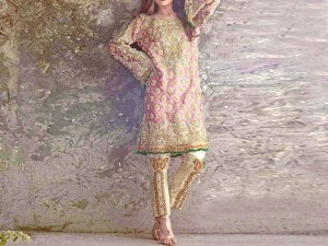 Heavy Embroidered Lawn Dress with Embroidered Chiffon Dupatta Price in Pakistan