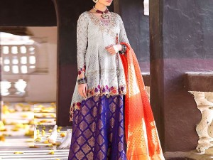 Heavy Embroidered Lawn Suit with Embroidered Chiffon Dupatta Price in Pakistan