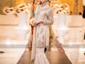 Heavy Embroidered Masoori Net Party Dress Price in Pakistan