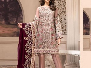 Embroidered Formal Chiffon Wedding Dress Price in Pakistan
