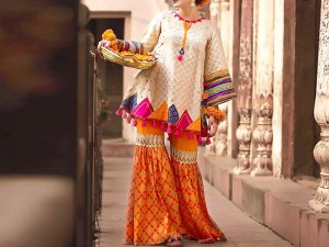 2-Pcs Heavy Embroidered Lawn Dress with Embroidered Trouser Price in Pakistan