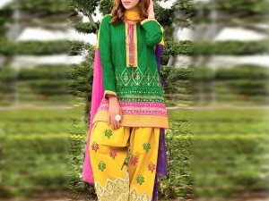 Heavy Embroidered Cotton Party Wear Dress Price in Pakistan
