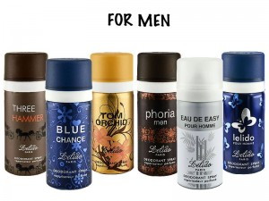 Pack of 6 Lelido Paris Deodorants for Men Price in Pakistan