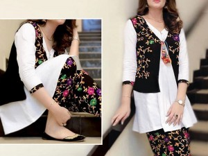 2-Pcs Embroidered Linen Suit with Embroidered Trouser Price in Pakistan