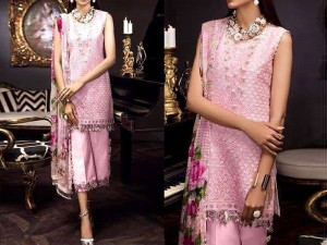 Heavy Embroidered Organza Dress with Silk Dupatta Price in Pakistan