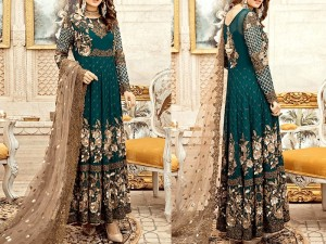 Heavy Embroidered Chiffon Dress with Net Dupatta Price in Pakistan