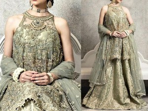 Heavy Embroidered Masoori Net Bridal Dress Price in Pakistan