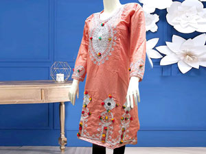 Embroidered Cotton Kurti for Girls Price in Pakistan