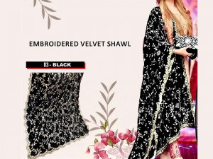 Heavy Embroidered Velvet Shawl