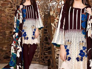 Embroidered Khaddar Dress with Wool Shawl Dupatta Price in Pakistan