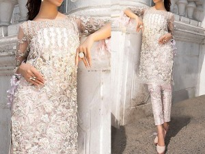 Handwork Heavy Embroidered Net Wedding Dress Price in Pakistan