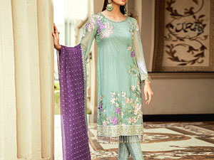 Embroidered Chiffon Party Dress with Chiffon Dupatta Price in Pakistan