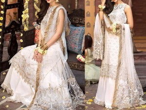 Heavy Embroidered Net Wedding Dress Price in Pakistan
