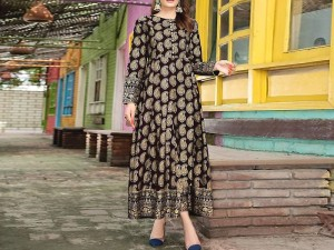 2-Pcs Printed  Egyptian Linen Block Print Dress Price in Pakistan