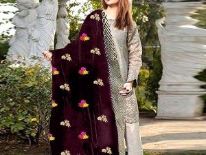 Embroidered Winter Velvet Shawl Price in Pakistan