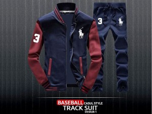 Combo of 2 Men's Baseball Jacket with Trouser - Navy Blue Price in Pakistan