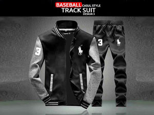Combo of 2 Men's Baseball Jacket with Trouser - Black Price in Pakistan