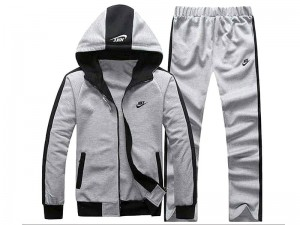 Combo of 2 Men's Contrast Hoodie with Trouser - Grey Price in Pakistan