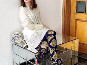 Embroidered Cotton Dress with Chiffon Dupatta Price in Pakistan