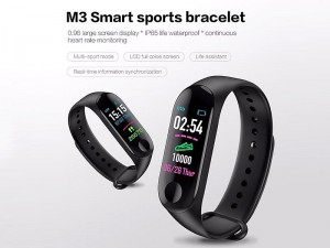 M3 Plus Bluetooth Smart Bracelet | Fitness Tracker & Heart Rate Monitor Price in Pakistan