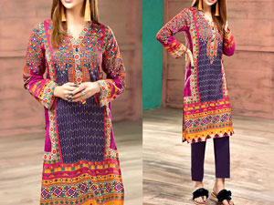 Embroidered Lawn Dress 2020 with Chiffon Dupatta Price in Pakistan