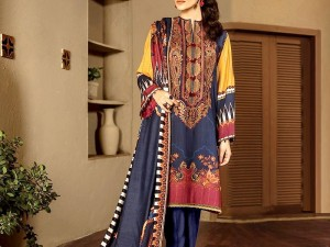 Embroidered Lawn Dress with Chiffon Dupatta Price in Pakistan