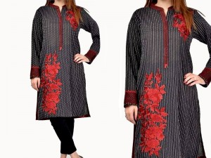Heavy Embroidered Lawn Dress with Chiffon Dupatta Price in Pakistan