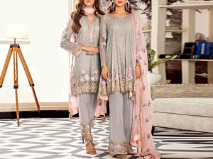Elegant Embroidered Chiffon Wedding Dress Price in Pakistan