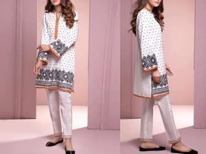 2-Pcs Embroidered White Lawn Dress Price in Pakistan