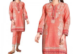 2-Pcs Heavy Embroidered Lawn Dress 2020