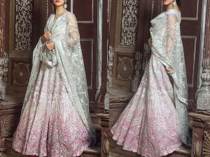 Heavy Handwork Embroidered Net Maxi Dress Price in Pakistan