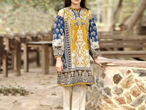 Hit Design Embroidered Lawn Dress with Chiffon Dupatta
