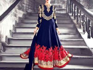 Indian Embroidered Chiffon Maxi Dress Price in Pakistan