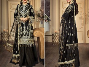 Luxury Heavy Embroidered Lawn Dress with Embroidered Net Dupatta Price in Pakistan
