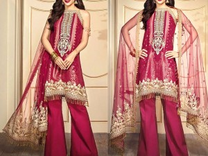 Heavy Embroidered  Lawn Dress 2020 with Chiffon Dupatta