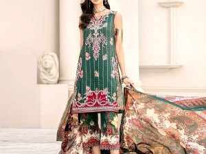 Embroidered Airjet Lawn Dress 2020 with Chiffon Dupatta Price in Pakistan