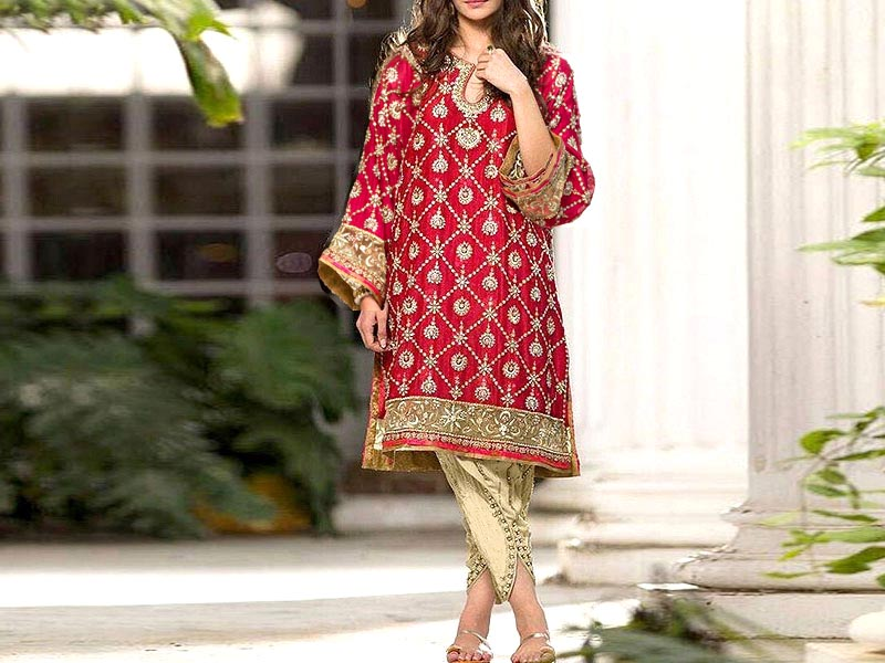 Trendy 2-Piece Heavy Embroidered Cotton Lawn Dress with Embroidered Trouser Price in Pakistan