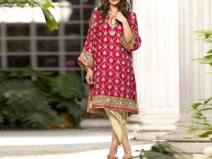 Trendy 2-Piece Heavy Embroidered Lawn Dress Price in Pakistan