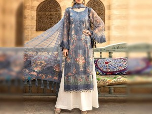Luxury Embroidered Lawn Dress 2020 with Chiffon Dupatta Price in Pakistan