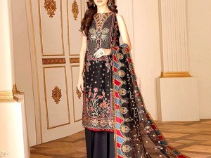 Embroidered Zarri Lawn Dress with Chiffon Dupatta Price in Pakistan