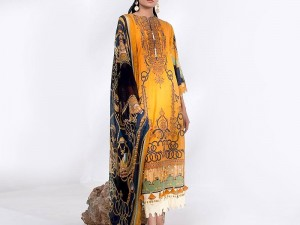 Heavy Neck Embroidered Lawn Dress 2020 with Lawn Dupatta Price in Pakistan
