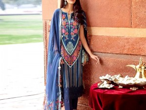 Embroidered Masoori Lawn Dress 2020 with Chiffon Dupatta Price in Pakistan
